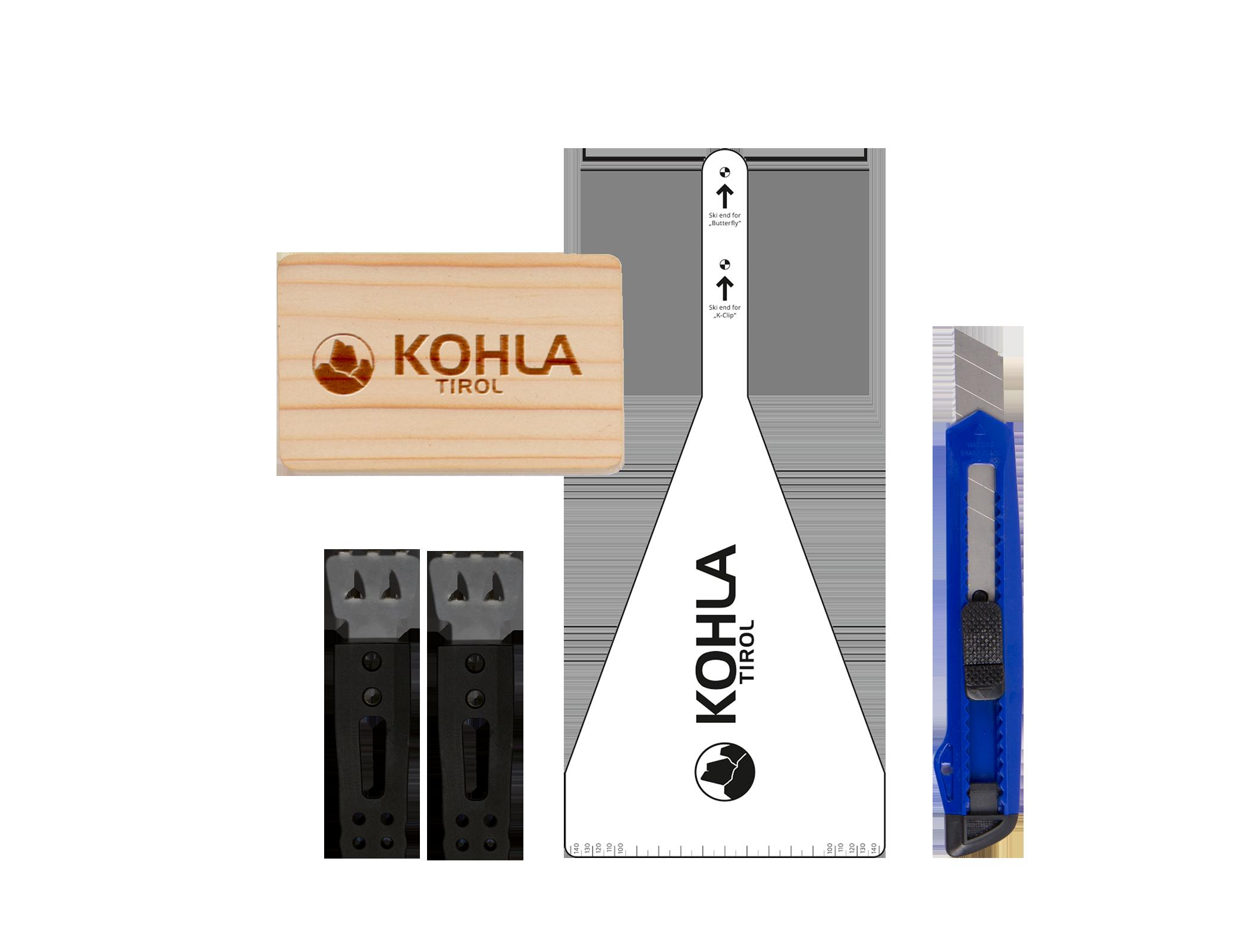 Elastic Strap mit Kralle+Schablone und Messer